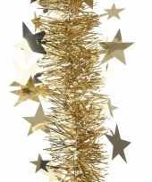Gouden sterren lametta guirlande 270 cm trend