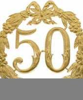 Gouden trouwdag 50 jaar jubileum trend