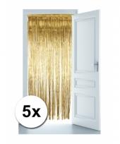 Gouden versiering voor de deur 5 st trend