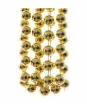 Gouden xxl kralenslinger kerstslinger 270 cm 2 stuks trend