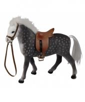 Grijs paard met zadel 23 cm trend