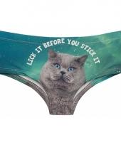 Grijze kat onderbroek voor dames trend