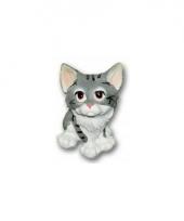 Grijze kat zittend van polystone 13 cm trend