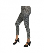 Grijze luipaard legging voor dames trend