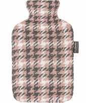 Grijze roze witte kruik met pied de poule patroon 2 liter trend