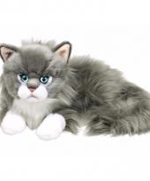 Grijze witte ragdoll poezen katten knuffel 25 cm trend