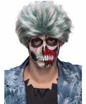 Grijze zombiepruik voor heren trend