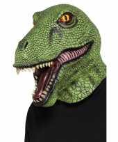 Groen dinosaurus masker voor volwassenen trend