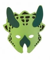 Groen dinosaurus triceratops masker 18cm trend