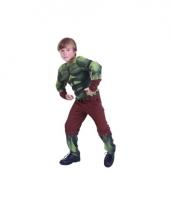 Groen gespierd monster kostuum voor kids trend