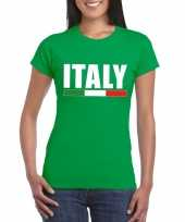 Groen italie supporter shirt dames trend