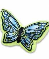 Groen met blauw vlinderkussen 50 cm trend