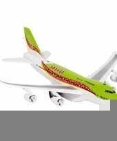 Groen speelgoed vliegtuig met licht en geluid voor kinderen trend