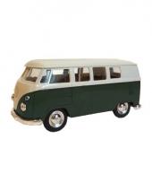Groene 1962 hippiebus speelgoedauto 15 cm trend
