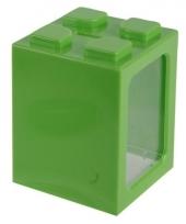 Groene bouwsteentjes spaarpot 11 cm trend