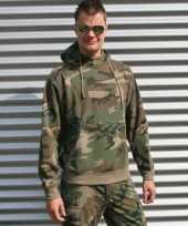 Groene camouflage hoodie sweater trend