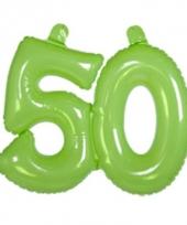 Groene cijfers 50 opblaasbaar trend