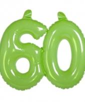 Groene cijfers 60 opblaasbaar trend