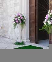 Groene decoratie loper 1 meter breed trend