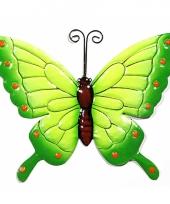 Groene decoratie vlinder 22 cm trend