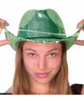 Groene disco cowboy hoed deluxe trend