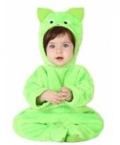 Groene kat dierenkostuum voor babys trend