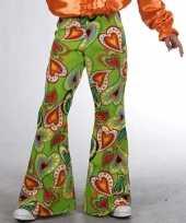 Groene kinderbroek hippie hartjes trend