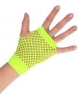 Groene korte visnet handschoenen voor volwassenen trend