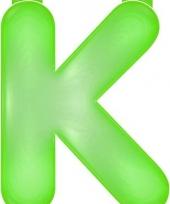 Groene letter k opblaasbaar trend
