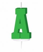 Groene naam kaarsje letter a trend