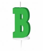 Groene naam kaarsje letter b trend
