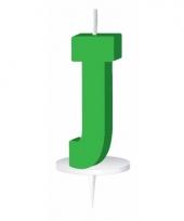 Groene naam kaarsje letter j trend