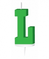 Groene naam kaarsje letter l trend