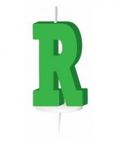 Groene naam kaarsje letter r trend