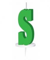 Groene naam kaarsje letter s trend