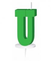 Groene naam kaarsje letter u trend