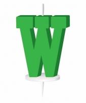 Groene naam kaarsje letter w trend