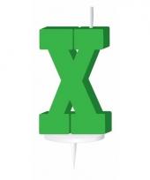 Groene naam kaarsje letter x trend