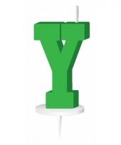Groene naam kaarsje letter y trend
