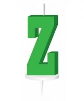 Groene naam kaarsje letter z trend