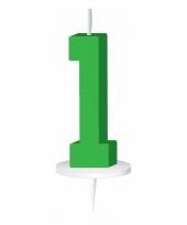 Groene nummer kaarsje cijfer 1 trend
