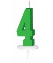 Groene nummer kaarsje cijfer 4 trend