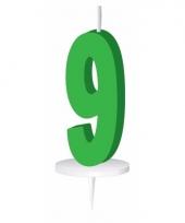 Groene nummer kaarsje cijfer 9 trend