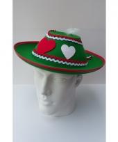 Groene oktoberfest hoed voor dames trend