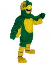 Groene papegaai kostuum luxe trend