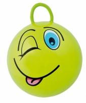 Groene skippybal met gezicht 45cm trend