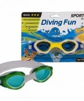 Groene sport duikbrillen 3 8 jaar trend