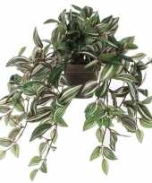 Groene tradescantia vaderplant kunstplant 45 cm in pot trend