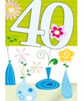 Groene verjaarkaart 40 jaar trend