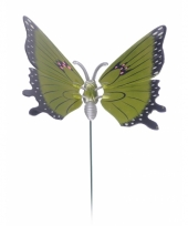 Groene vlinder op stok 20 cm trend